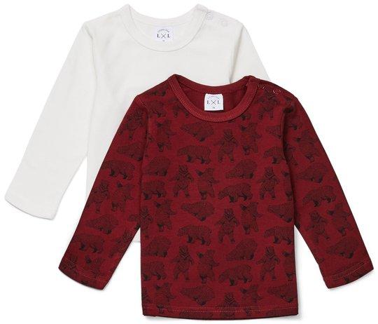 Luca & Lola Montay Langermet T-Skjorte 2-pack, Red 56