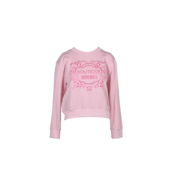 Boutique Moschino Women's Sweatshirt Pink 171899 - pink 36