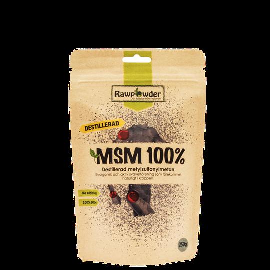 MSM 100%, Destillerad Metylsulfonylmetan, 250 g