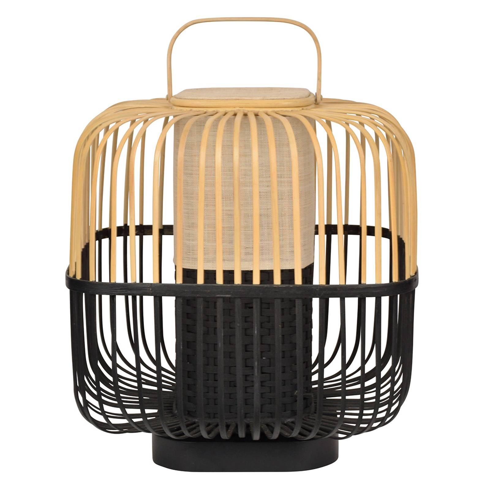 Forestier Bamboo Square M -pöytälamppu, musta