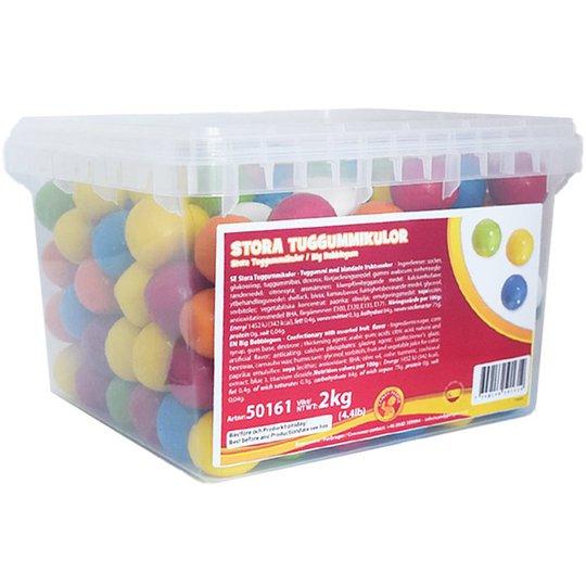 Hel Låda Stora Tuggummikulor 2kg - 51% rabatt