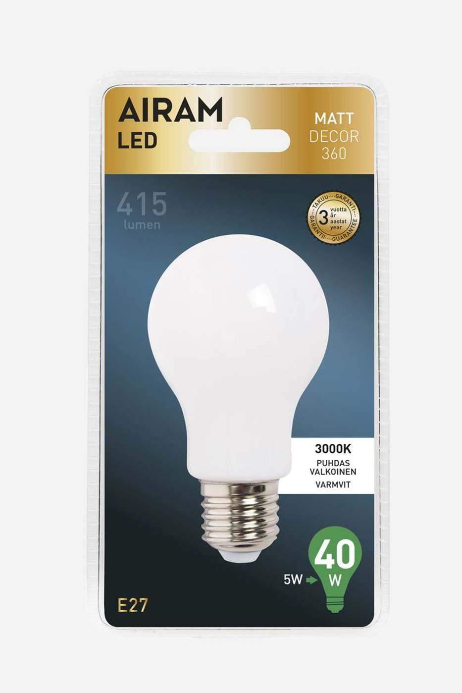 Ljuskälla Full Glass LED normallampa A60