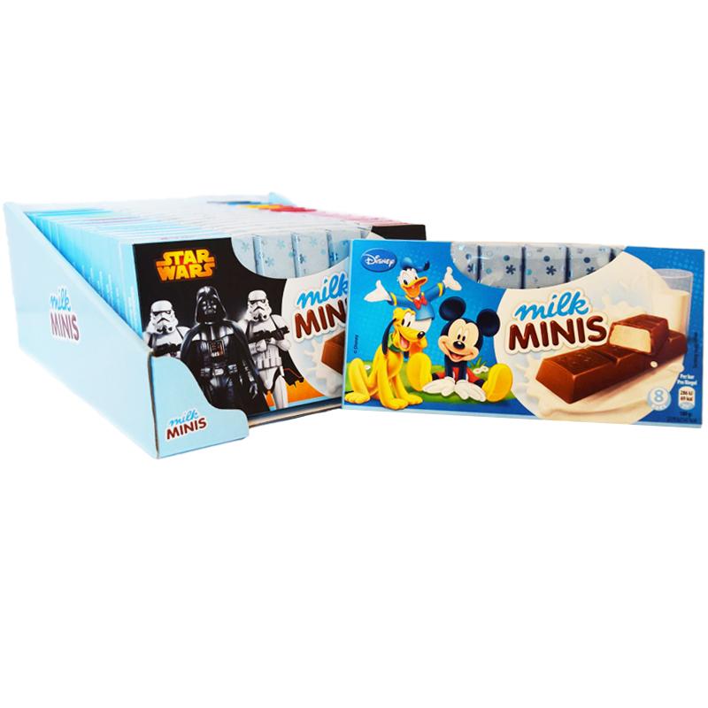 "Hel Låda Choklad ""Milk Minis"" 16 x 100g - 52% rabatt"