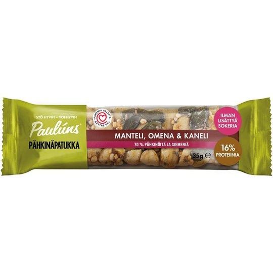 Pähkinäpatukka Manteli, Omena & Kaneli - 32% alennus