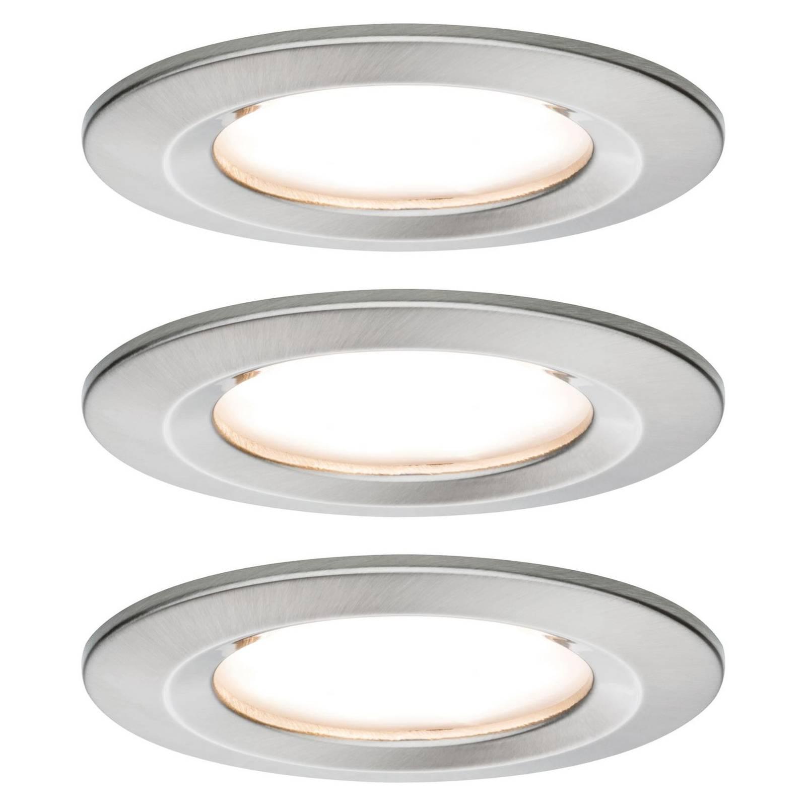 Paulmann Nova -LED-uppovalaisin 3 kpl, rauta