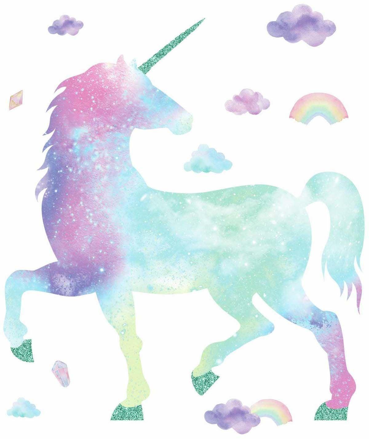 RoomMates Sisustustarrat Galaxy Unicorn