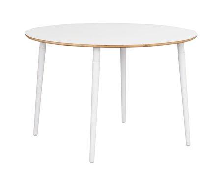Fusione Spisebord Rundt Hvit Bøkben