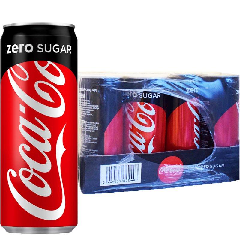 "Hel Platta Läsk ""Coca Cola Zero"" 24 x 250ml - 41% rabatt"