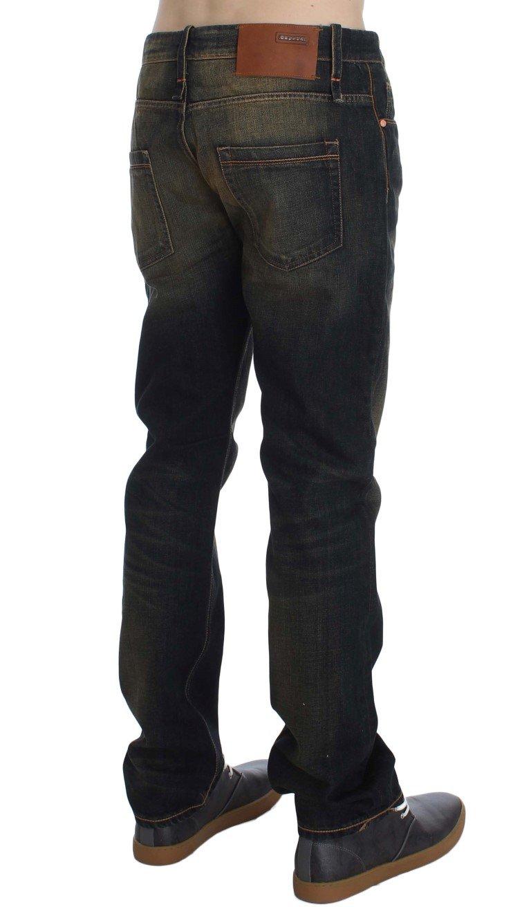 ACHT Men's Regular Straight Fit Jeans Blue SIG30478 - W34