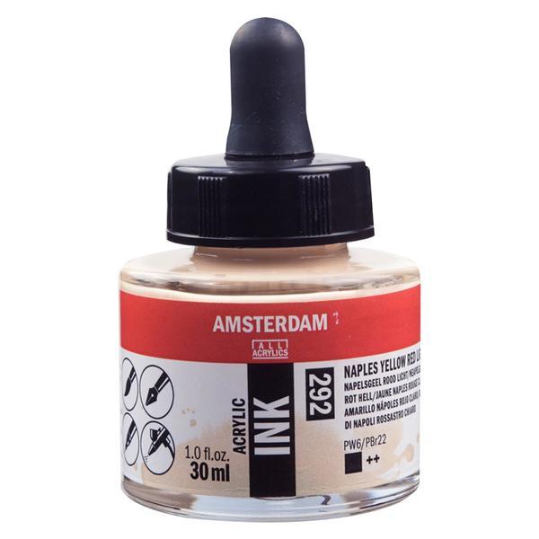 Acrylic Ink Bottle Naples Yellow Red Light 30ml