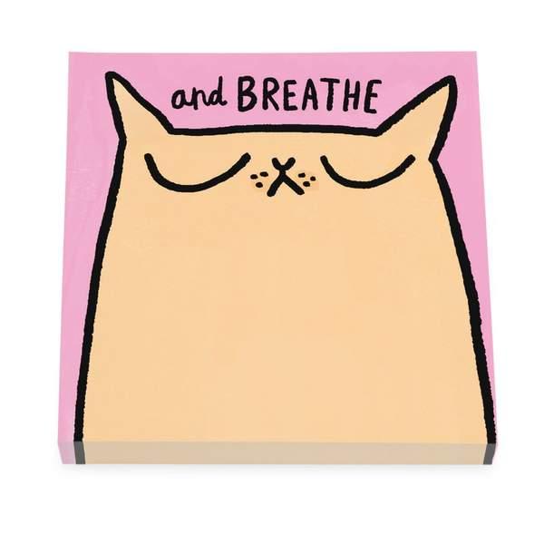 Breathe Cat Sticky Notes