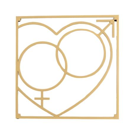 Love collection Grytunderlägg QM Love 18 x 18 cm Guld