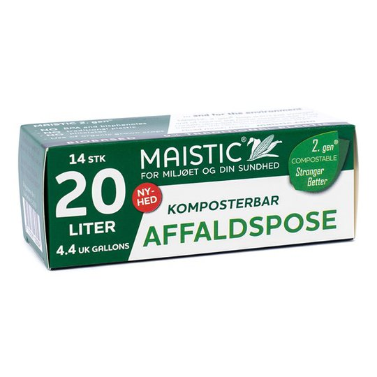 Maistic Komposterbar Avfallspåse - 20 L, 14-pack