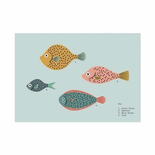 A5 Fish Art Print