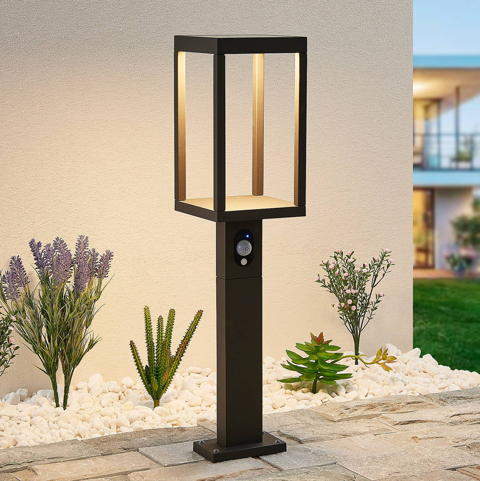 Lucande Qimka -LED-pollarivalaisin, sensori
