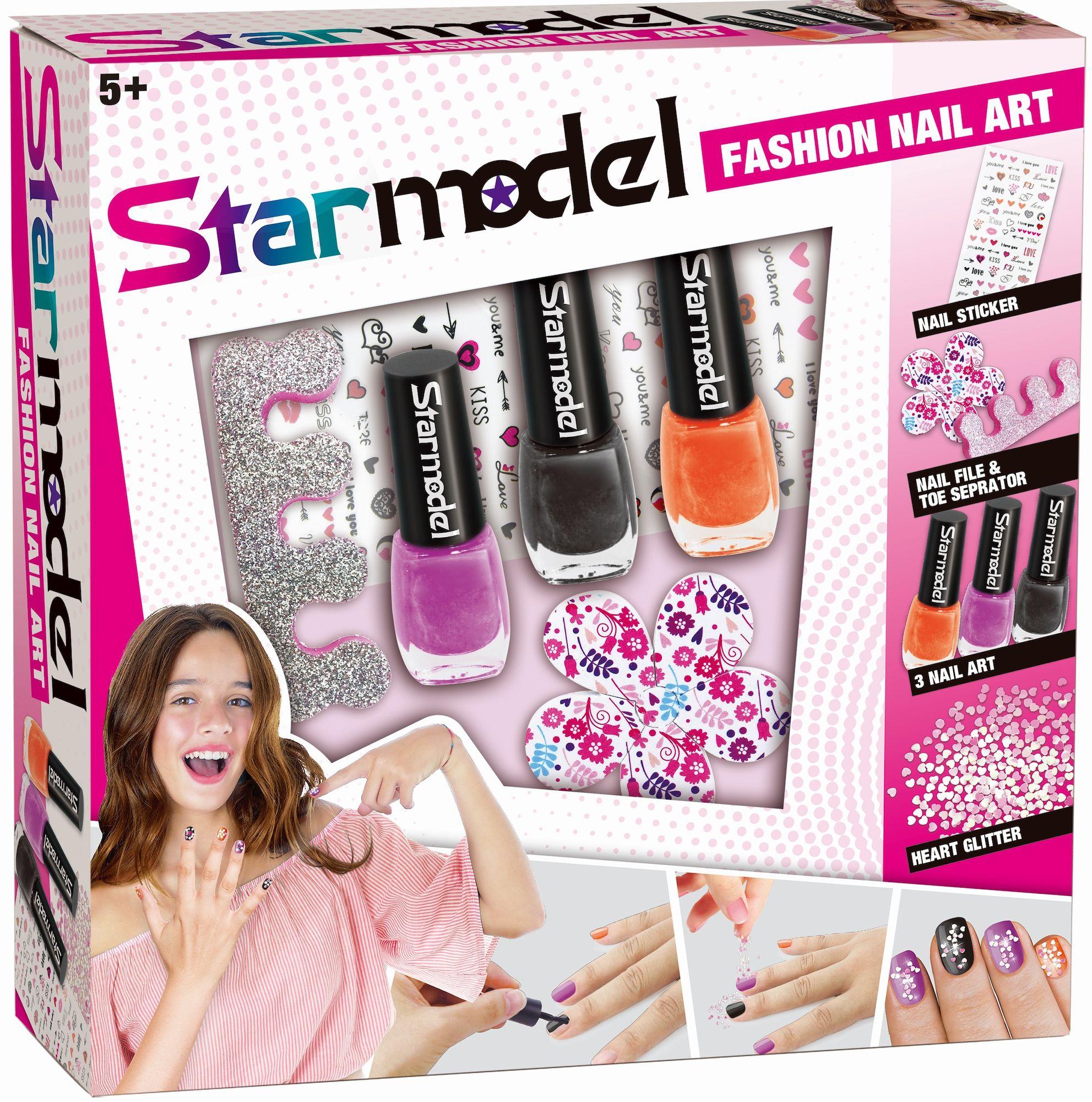 Starmodel Nagelset Med Stickers