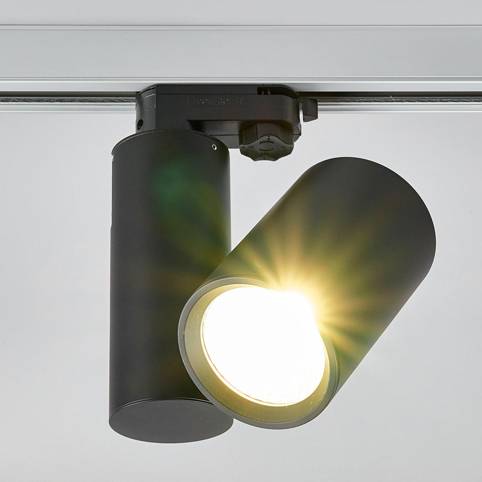 Giol – LED-kohdevalaisin kiskojärjestelmään, musta