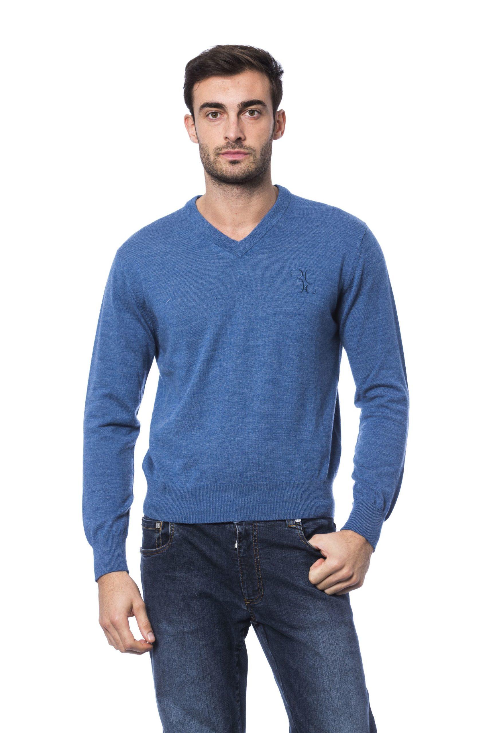 Billionaire Italian Couture Men's Avio Sweater Blue BI816582 - 4XL