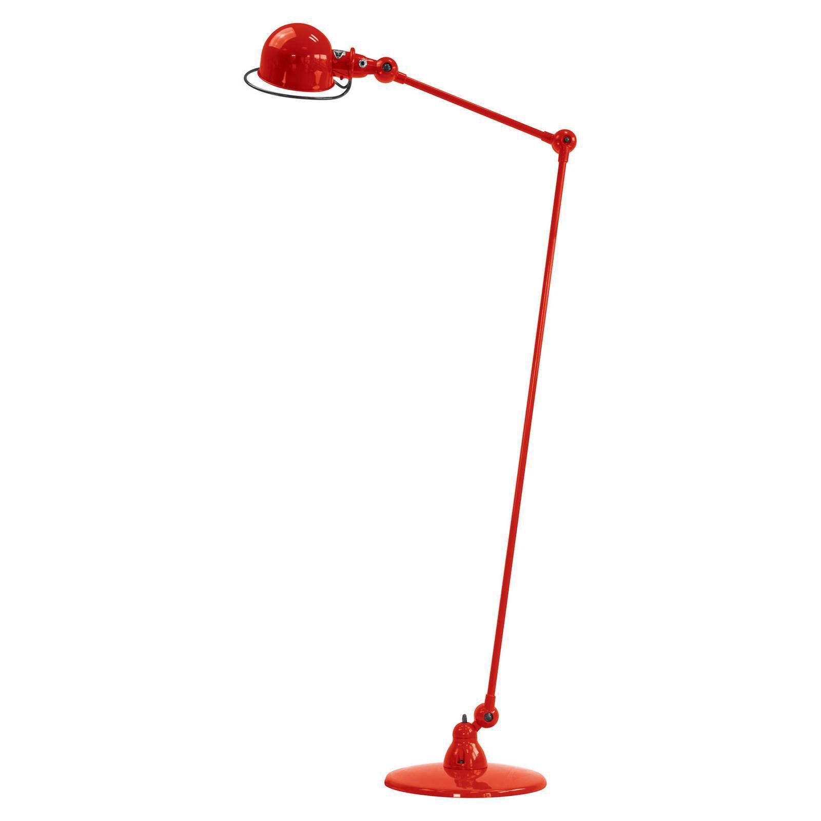 Jieldé Loft D1240 gulvlampe med leddarm, rød