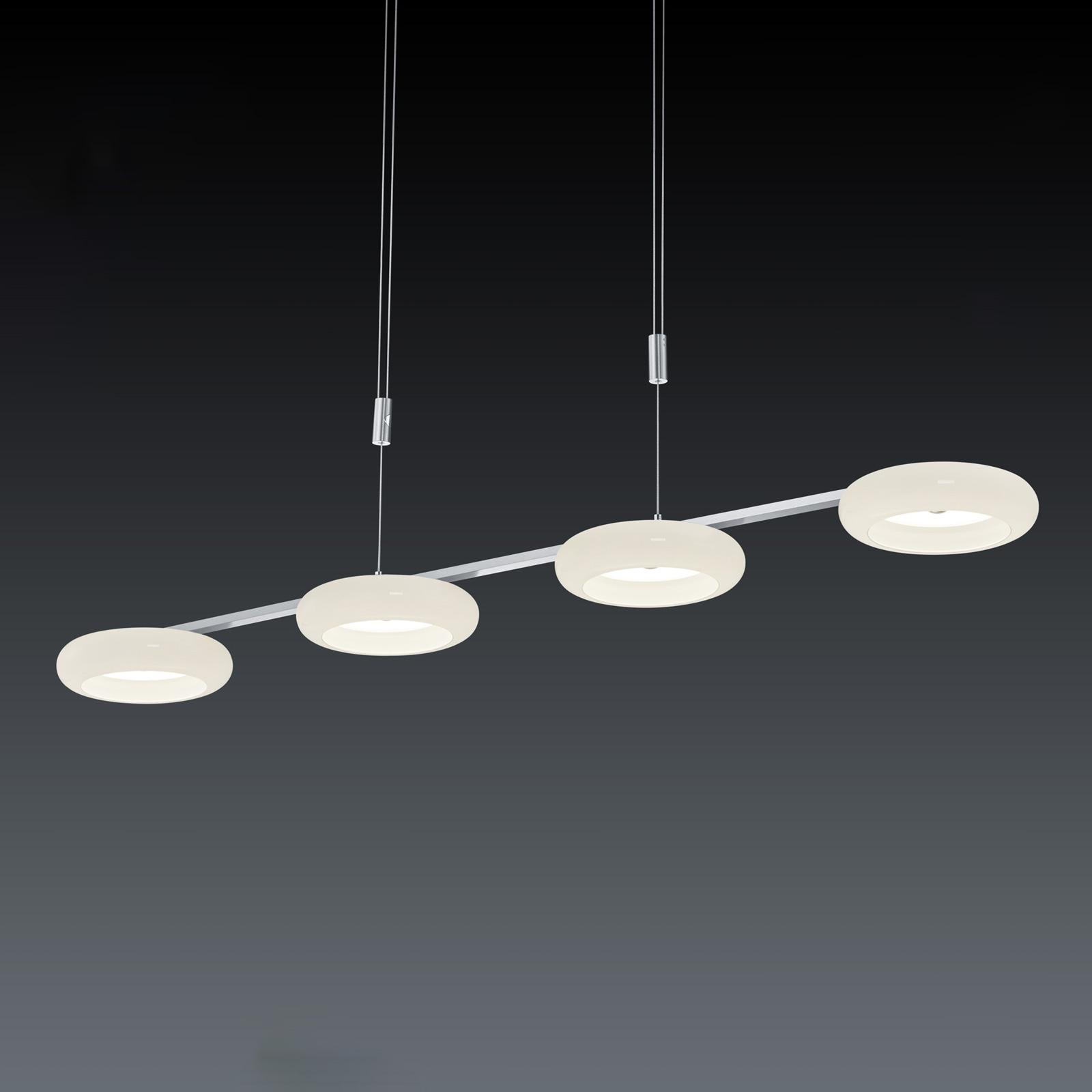 BANKAMP Centa riippuvalaisin 4-lamp. nikkeli