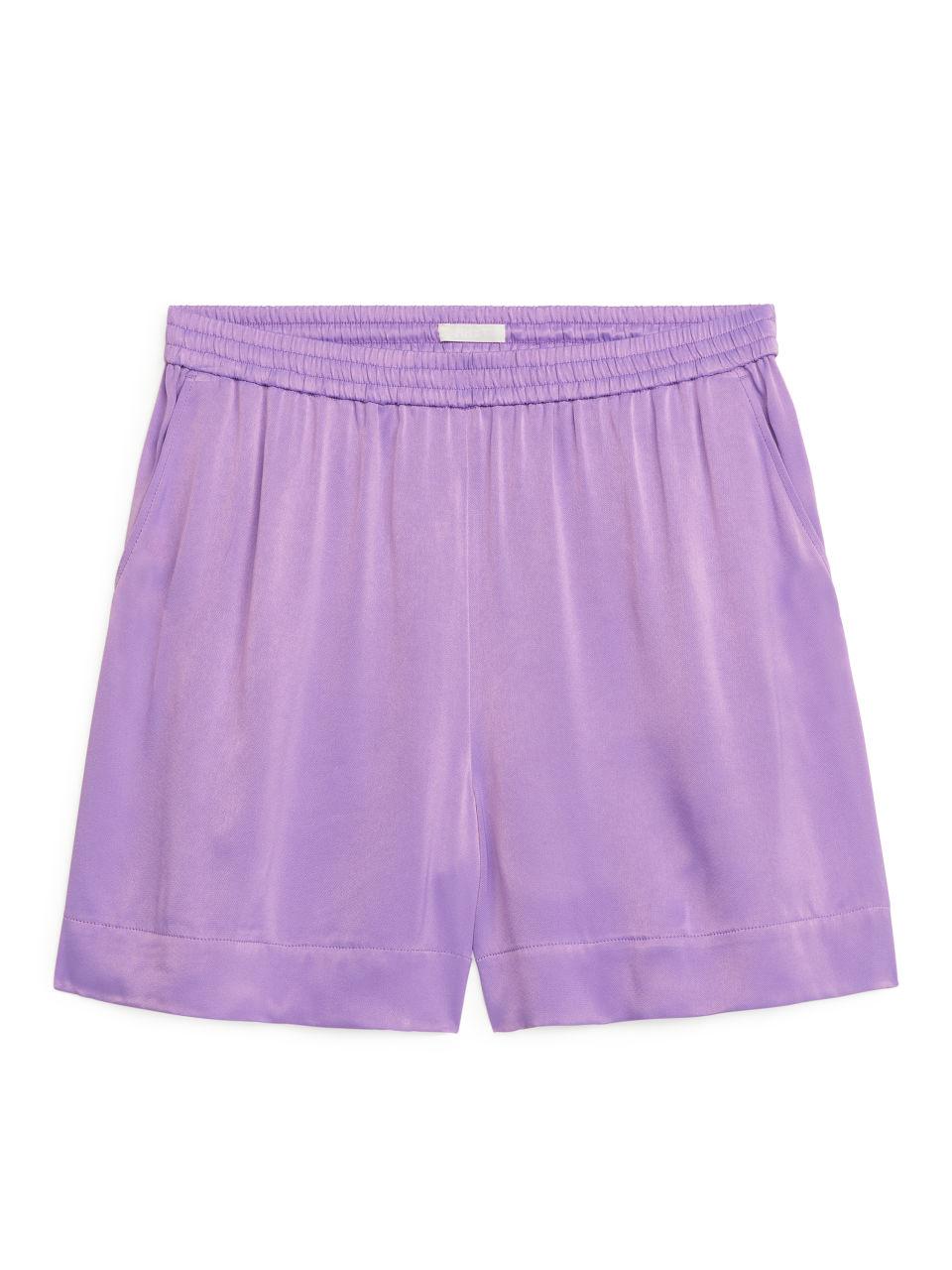 Satin Shorts - Purple