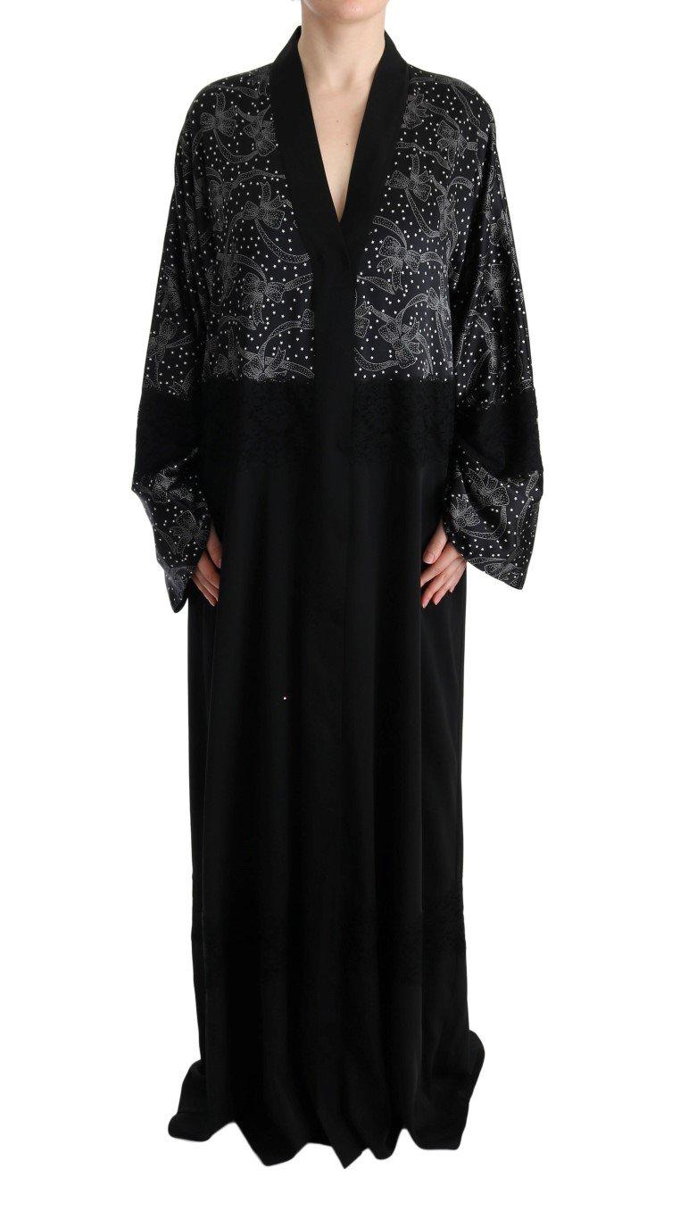 Dolce & Gabbana Women's Floral Silk Kaftan Dress Black SIG60603 - IT40 S