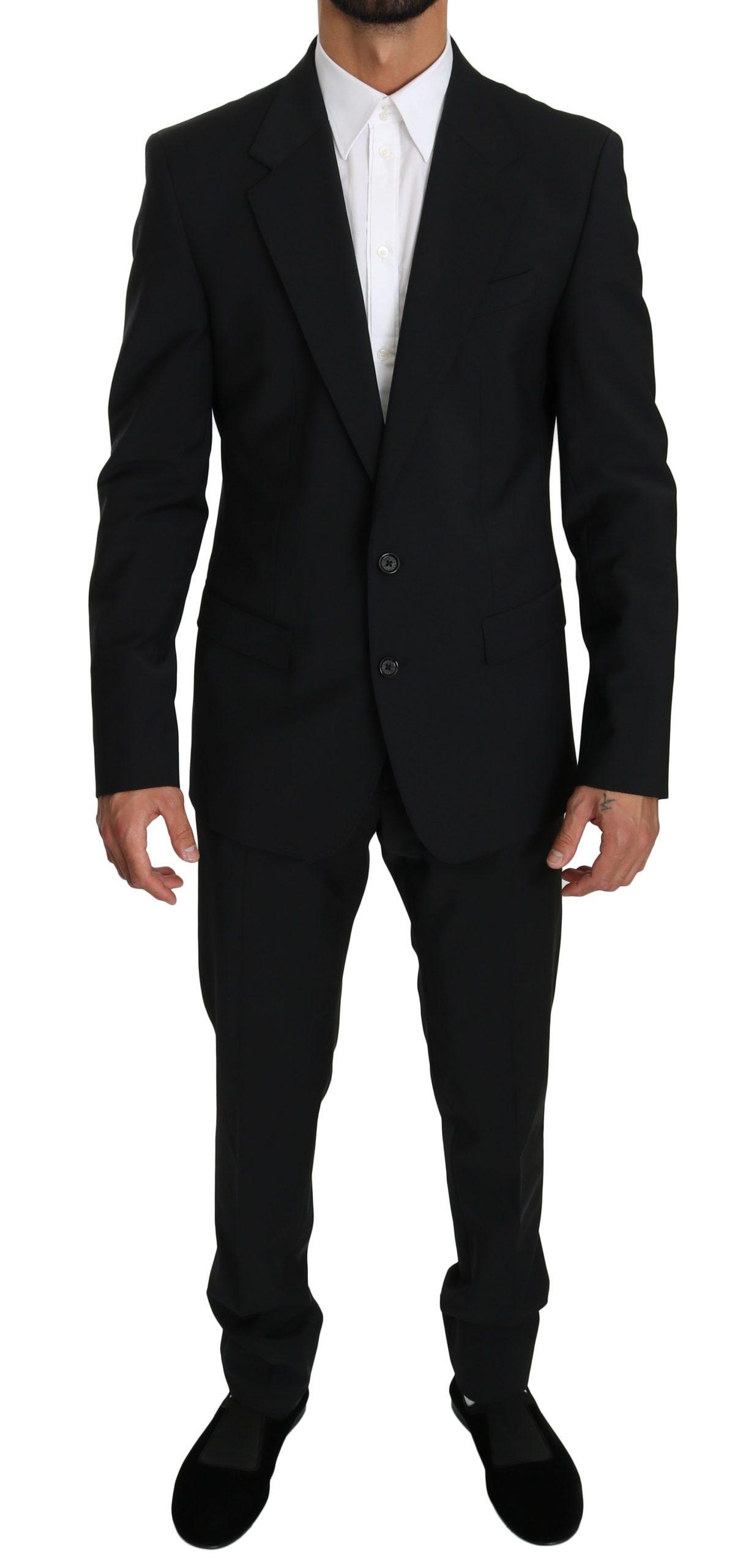 Dolce & Gabbana Men's Single Breasted 2 Piece MARTINI Suit Black KOS1613 - IT50   L