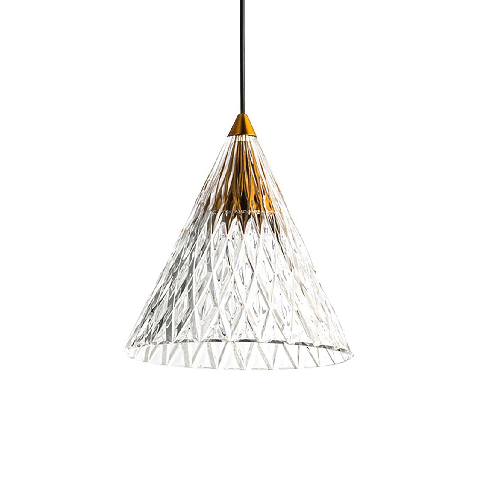 LEDS-C4 Veneto -LED-riippuvalo, kulta/valkoinen