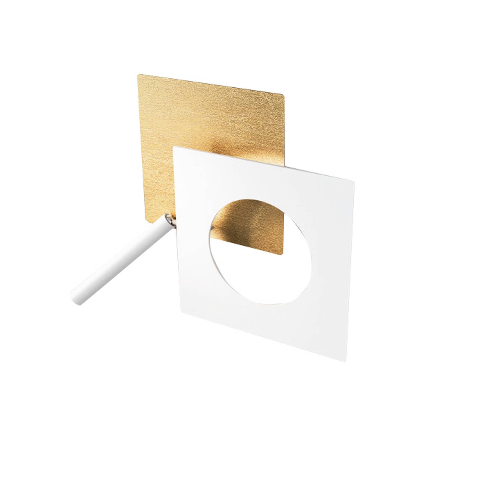 ICONE-LED-seinävalaisin Petra 21.L kulta/valkoinen