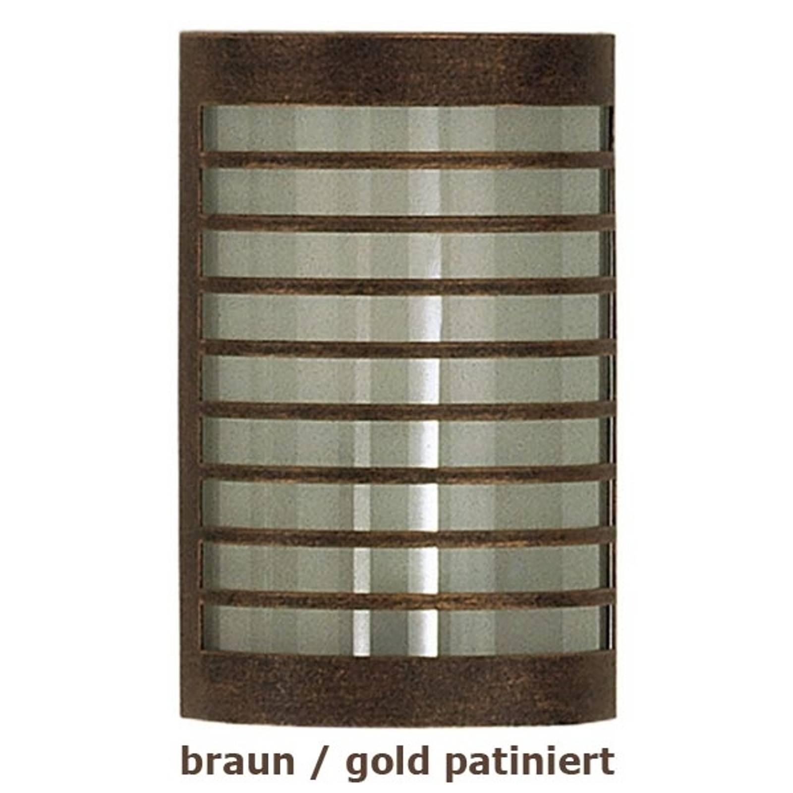 TERU - seinävalaisin, ruskea-kultainen patinointi