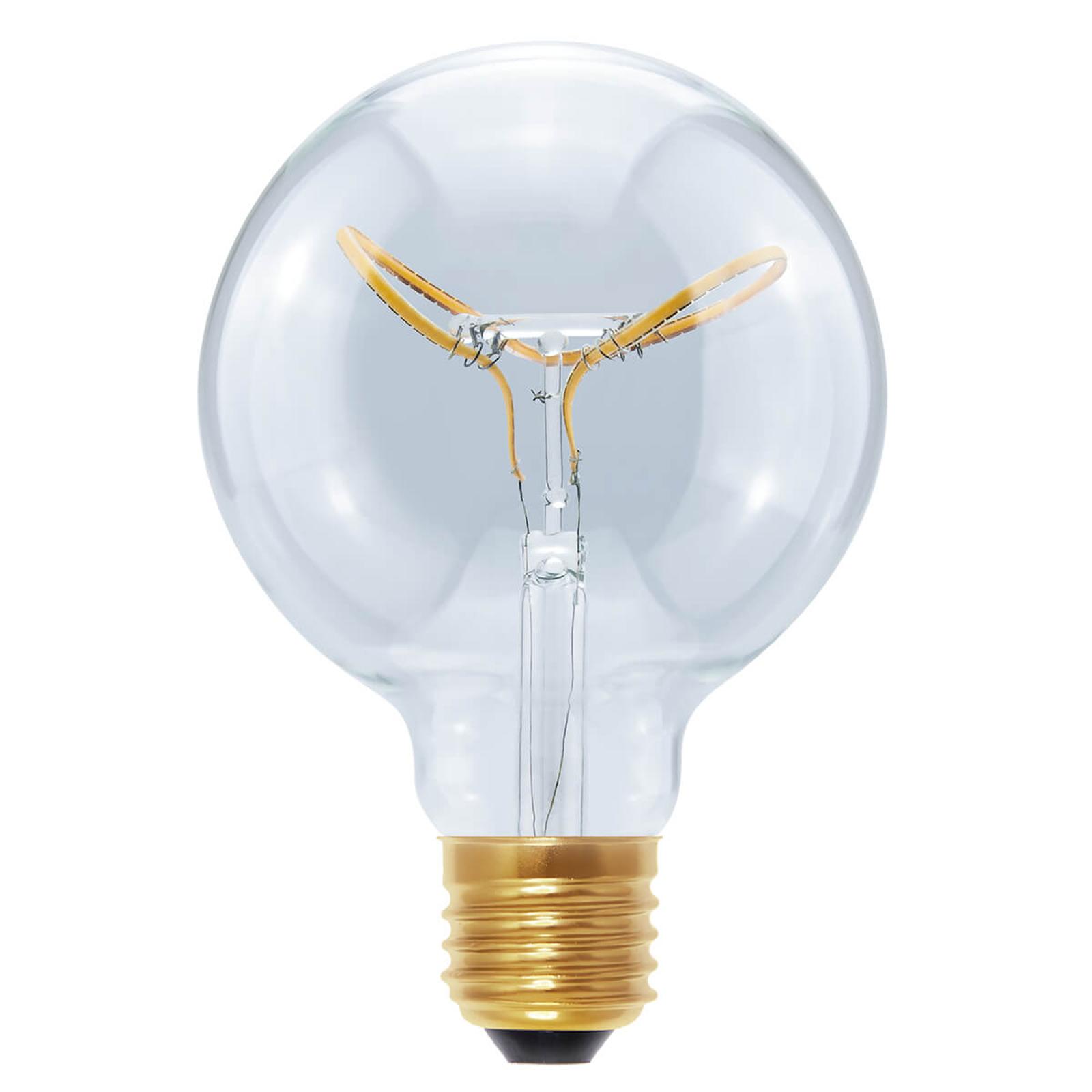E27 8W 922 LED-globe Curved Butterfly kirkas G95