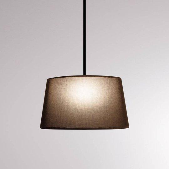 LOUM Bivio hengelampe Ø, 50 cm skjerm brun