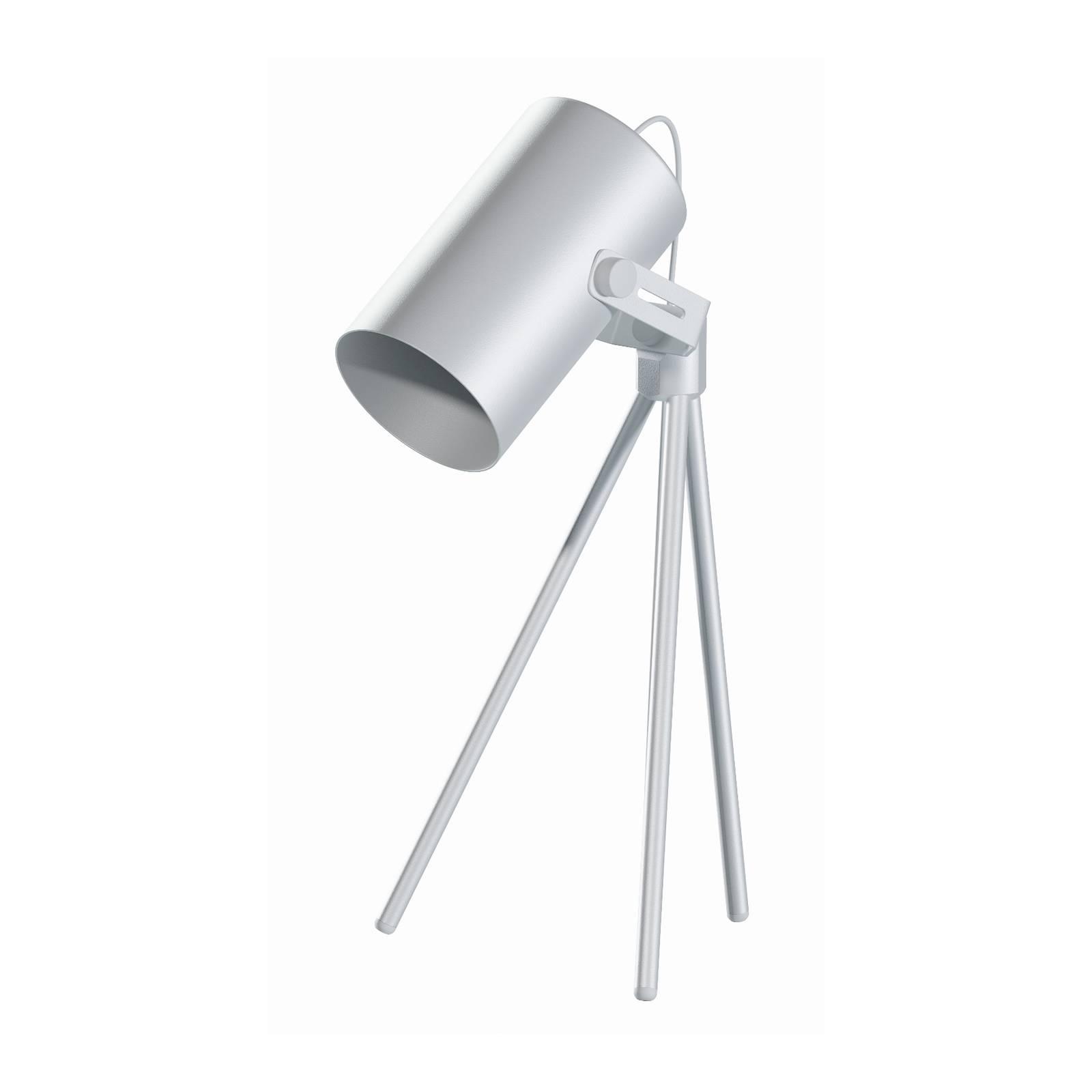 Pöytälamppu La Tuba 450 kolmijalalla, valkoinen