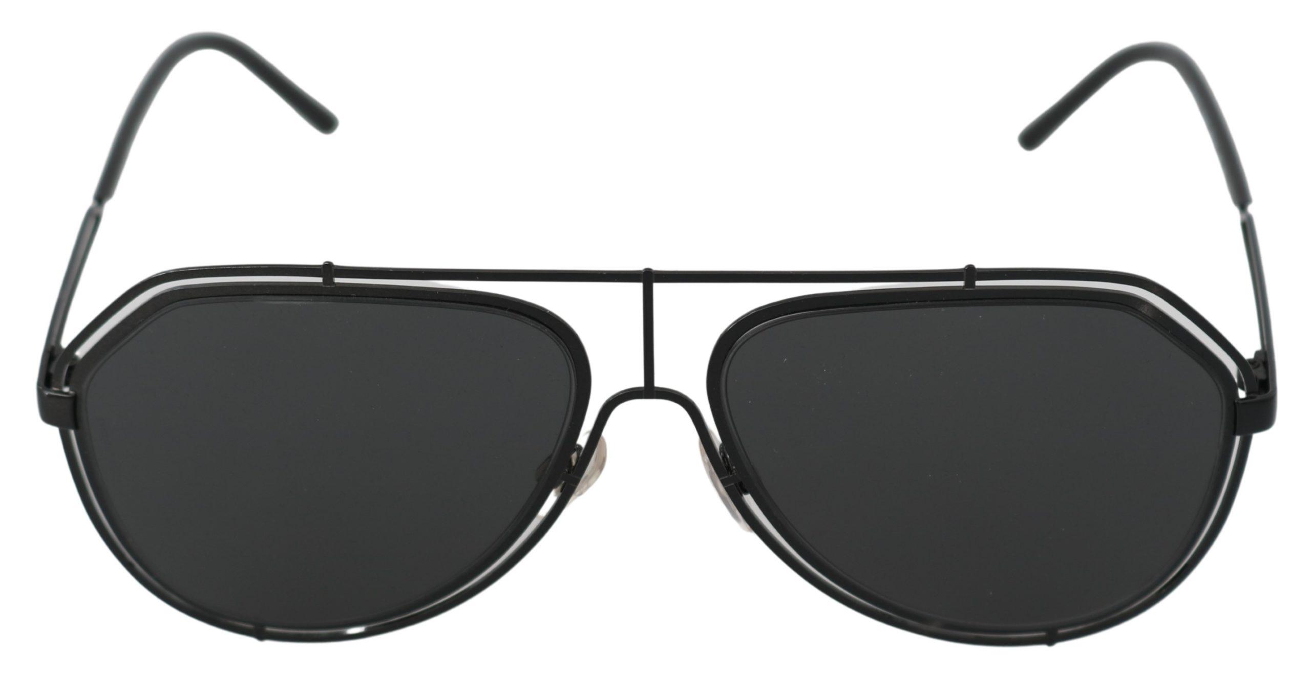 Dolce & Gabbana Women's Pilot Aviator Sunglasses Black GLA766