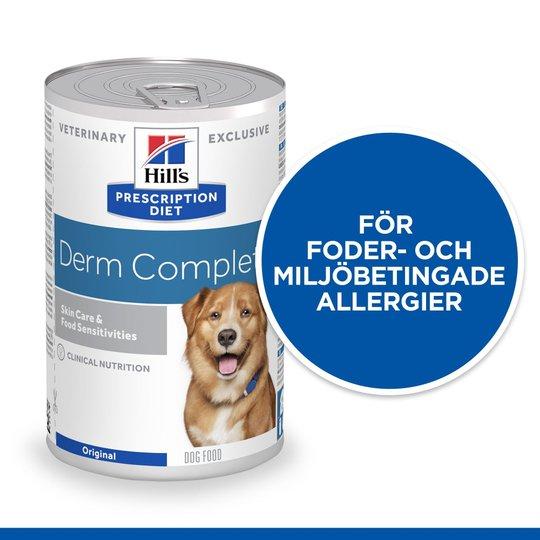 Hill's Prescription Diet Canine Derm Complete Skin Care & Food Sensitivities 370 g
