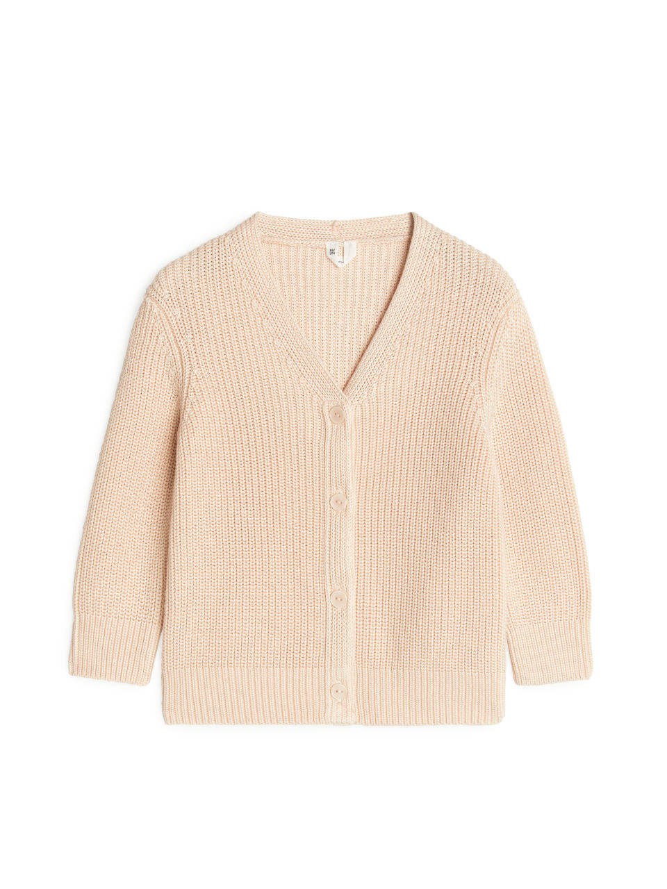 Pima Cotton Cardigan - Beige
