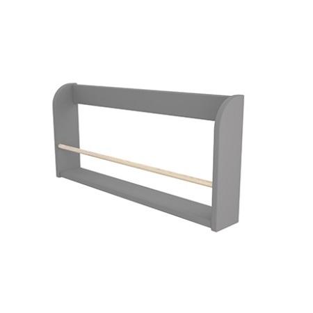 Vägghylla 1-plan trästång grå, Flexa PLAY