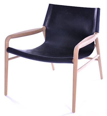 Rama chair fåtölj - Såpbehandlad, svart