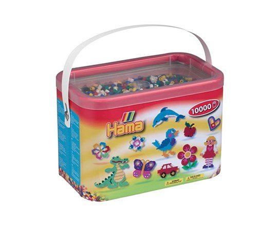 Hama Beads - Midi - 10.000 Beads in Bucket - Mix 66 (202-66)