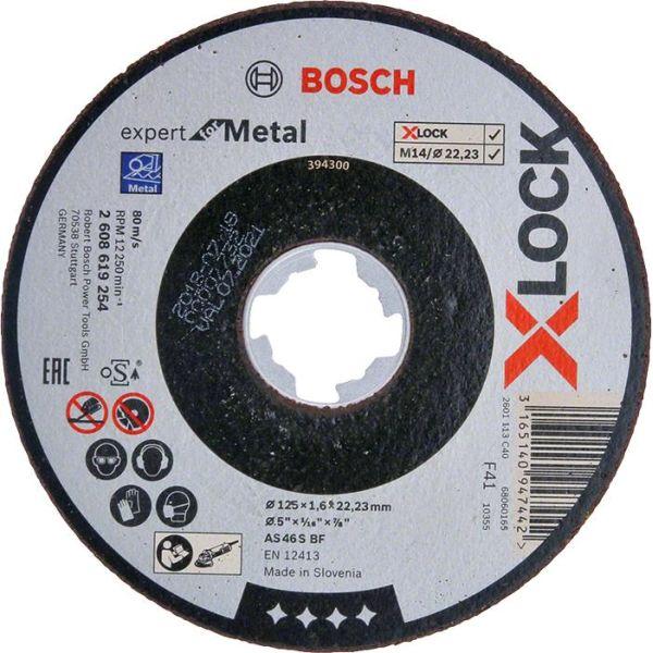 Bosch Expert for Metal Kappskive X-LOCK, rett skjæring 125 × 1,6 × 22,23 mm