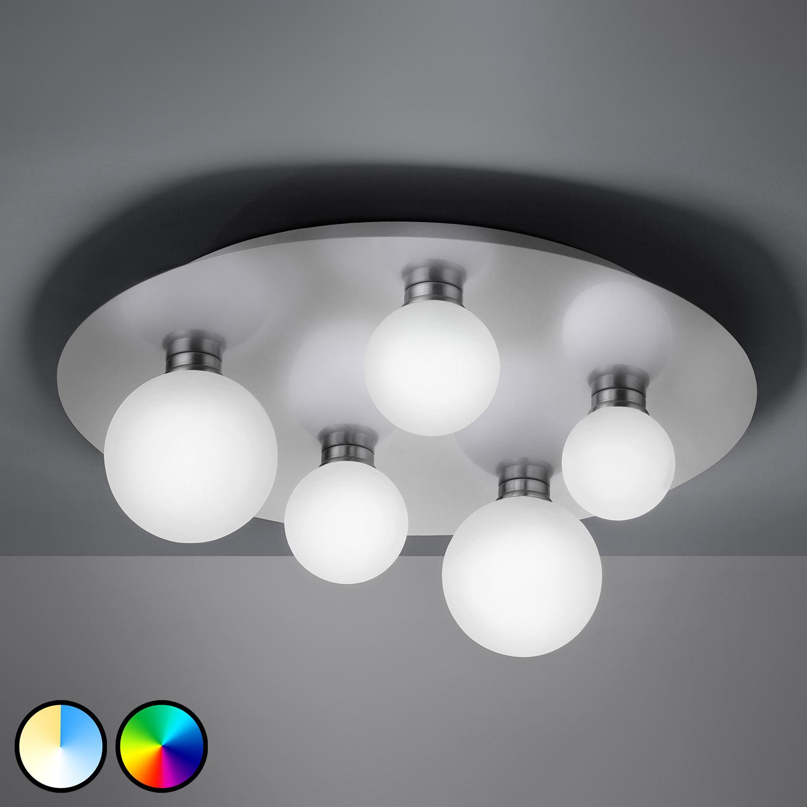 Trio WiZ Dicapo -LED-kattovalaisin, 5-lamppuinen