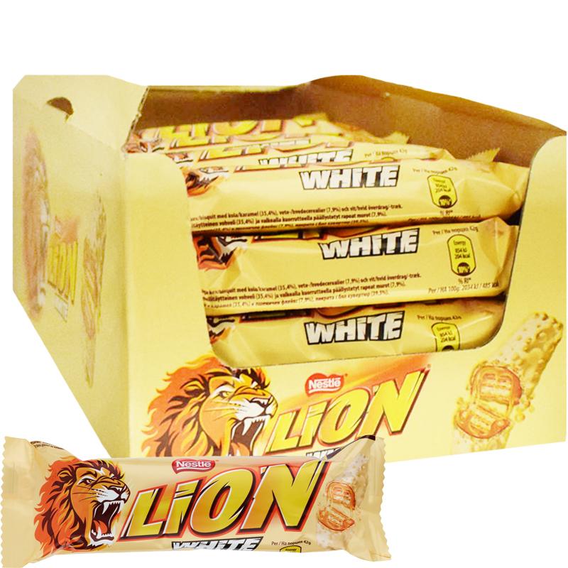 Vohvelipatukat Lion White 24kpl - 36% alennus