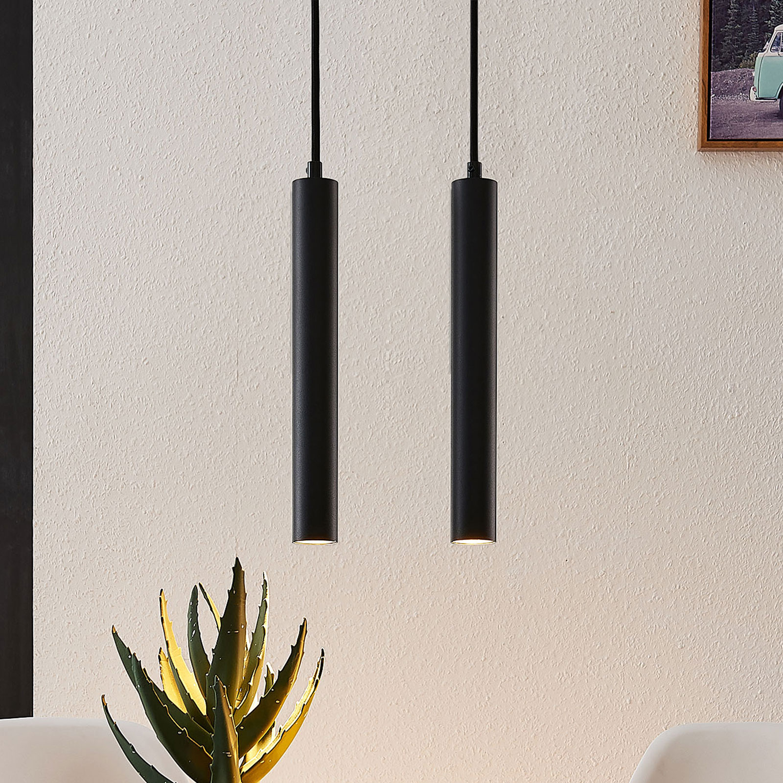 Arcchio Franka -LED-riippuvalaisin, 2-lamppuinen