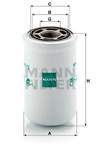 Hydrauliikkasuodatin, automaattivaihteisto MANN-FILTER WH 945/2