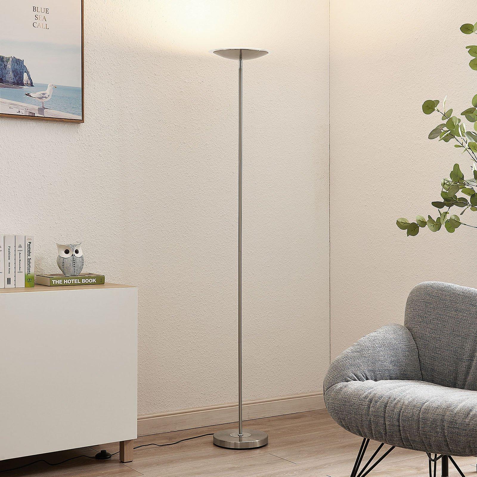 Lindby Heliani LED-gulvlampe, 1 lyskilde, krom