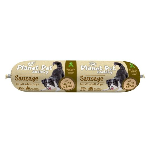Planet Pet Society Sausage with Game & Rice 800 g