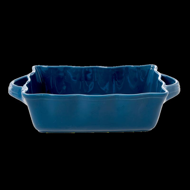 Rice - Stoneware Oven Dish - Dark Blue M