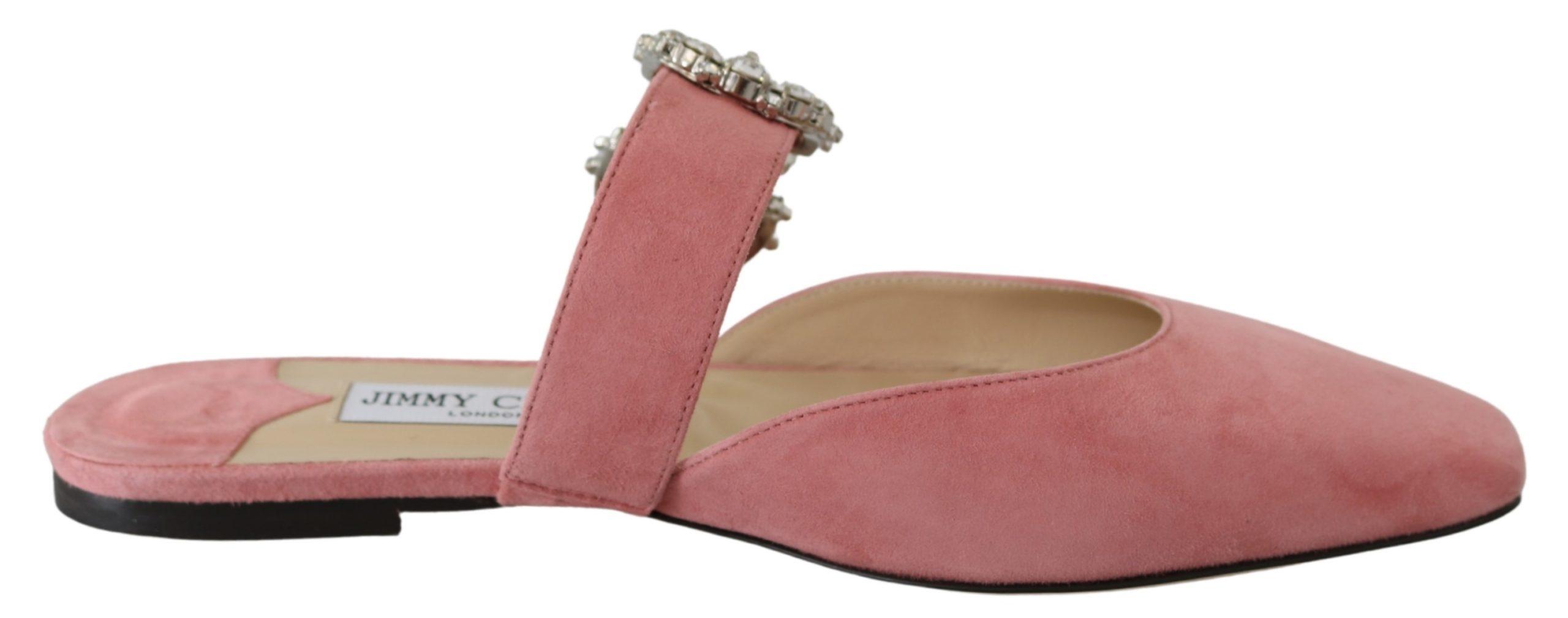 Jimmy Choo Women's Gee Candyfloss Flat Shoes Pink 192954306441 - EU39/US9