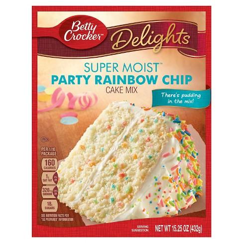 Betty Crocker Super Moist Rainbow Chip Cake Mix 432g