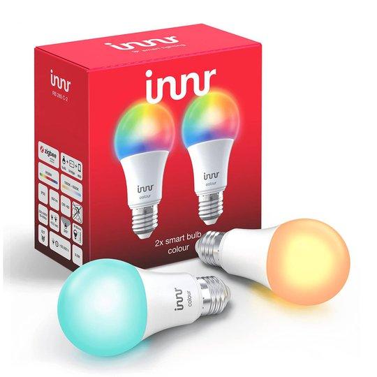 E27 9,5 W LED-pære Innr Smart Bulb Colour, 2er